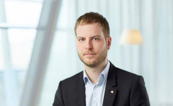 Johan Lindholm. ordförande för Seko Posten