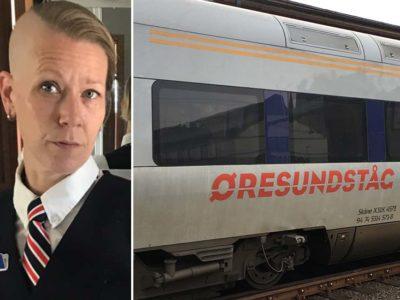 Sarah Andersson, tågvärd på Öresundståg.