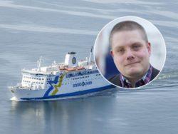 Oskar Lindskog, ombudsman på Seko sjöfolk.